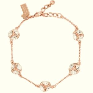NEW Kate Spade Clear / Rose Gold Lady Marmalade Bracelet